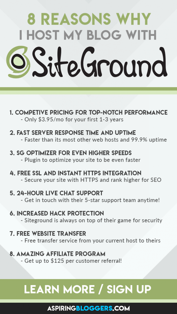 Siteground Review - The Best Web host for beginner bloggers #siteground #webhost