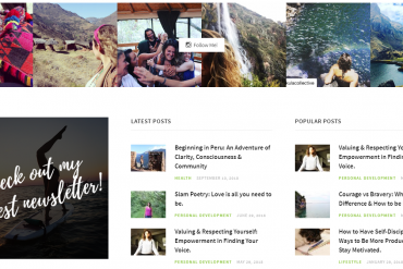 Instagram footer feed on a blog