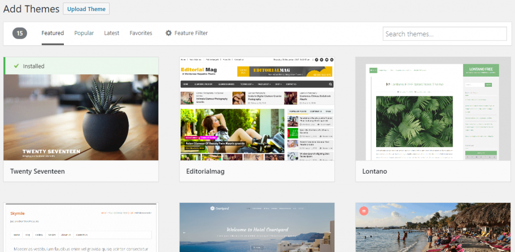 WordPress Themes - creating a self-hosted wordpress blog