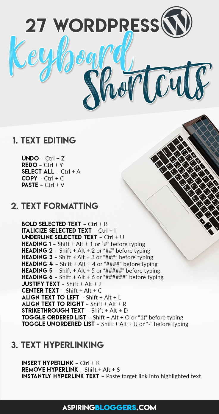 27 WordPress Keyboard Shortcuts. WordPress Tips and Tricks | WordPress for Beginners. #WordPress