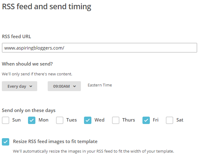 send automatic emails mailchimp blog auto generated email