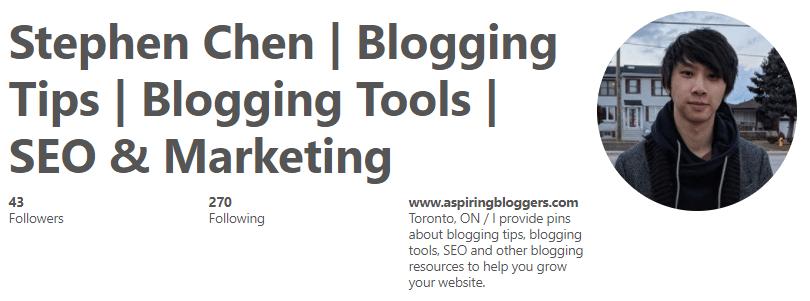 Aspiring Bloggers Pinterest