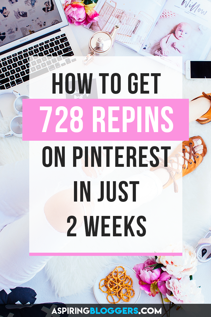 Learn how to get 728 repins in your first 2 weeks of using Pinterest! Pinterest marketing tips, pinterest tips, get more repins, grow pinterest followers, grow pinterest traffic.