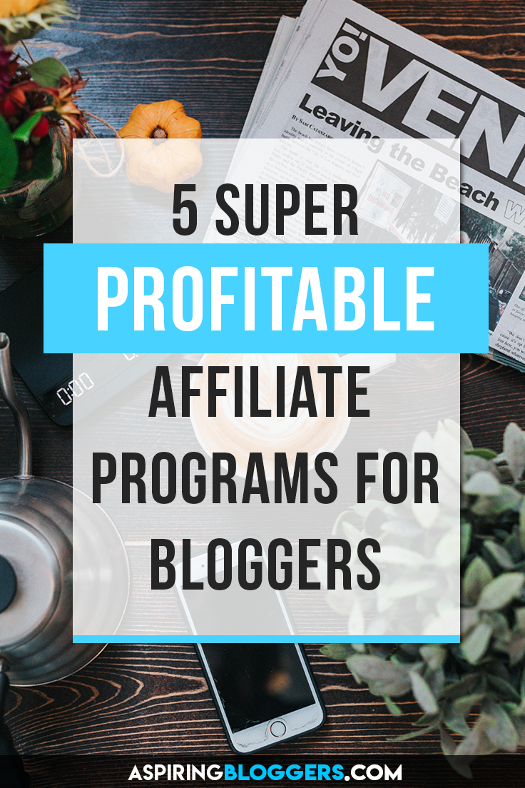 5 Awesome Affiliate Programs to Boost Your Blog Income. How to make money online, how to make money at home, how to make money from home, affiliate marketing for beginners, affiliate marketing tips.