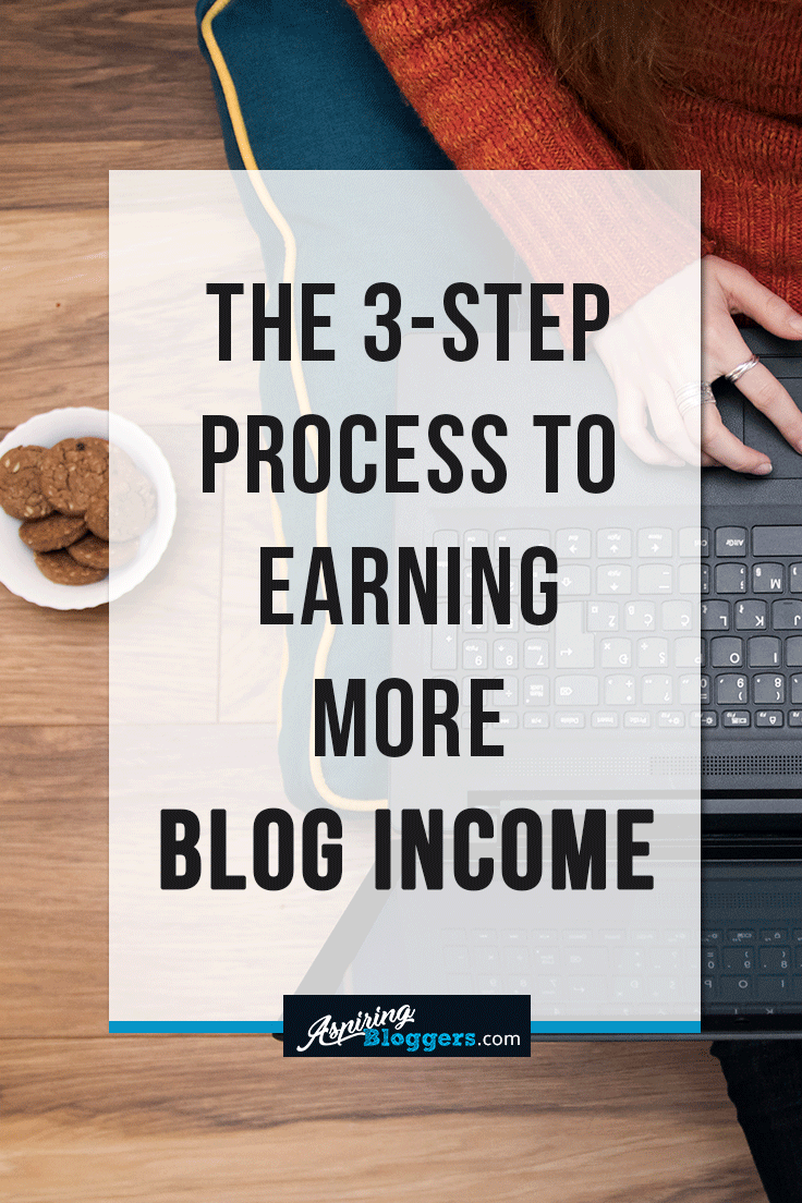 The 3-Step Process to Earning More Blog Income #blogging #bloggingtips #makemoneyonline