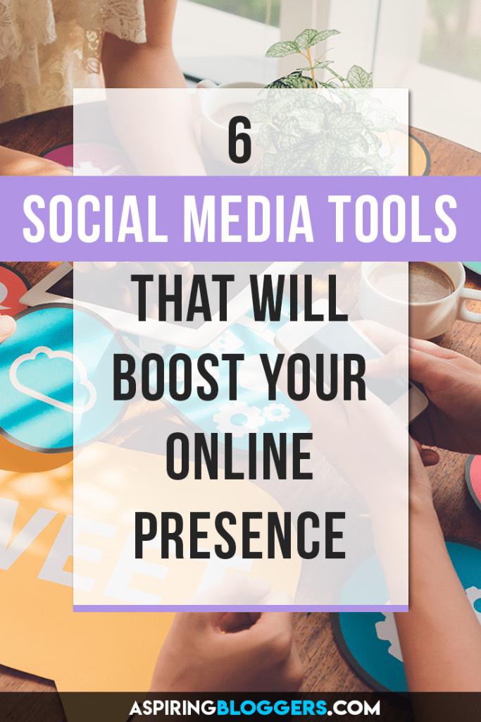 6 Social Media Tools That Will Grow Your online Presence. Social Media Tips | Social Media Marketing | Social Media Tools Free | Social Media Tools for Bloggers #socialmediatips