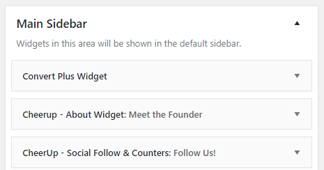 opt-in widget for sidebar