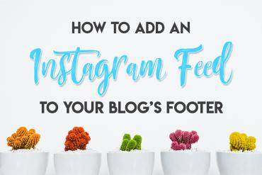 Instagram Footer Feed